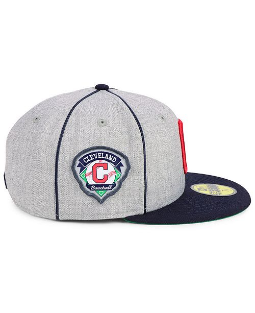 finest selection 0d163 3803c ... New Era Cleveland Indians Stache 59FIFTY FITTED Cap ...