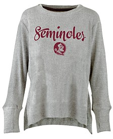 Pressbox Women's Florida State Seminoles Cuddle Knit Sweatshirt