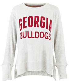 Pressbox Women's Georgia Bulldogs Cuddle Knit Sweatshirt