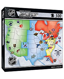 NHL 500 Piece Map Puzzle