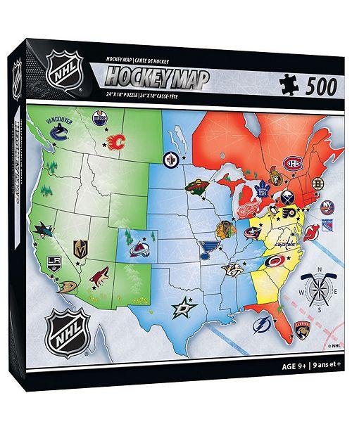 MasterPieces Puzzle Company NHL 500 Piece Map Puzzle