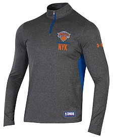 Under Armour Men's New York Knicks Combine Authentic Season Quarter-Zip Pullover
