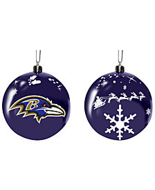 "Memory Company Baltimore Ravens 3"" Sled Glass Ball"