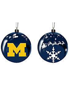 "Memory Company Michigan Wolverines 3"" Sled Glass Ball"