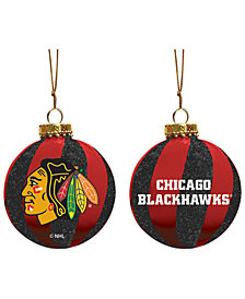 "Memory Company Chicago Blackhawks 3"" Sparkle Glass Ball"