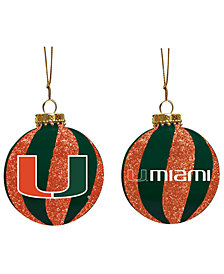 "Memory Company Miami Hurricanes 3"" Sparkle Glass Ball"