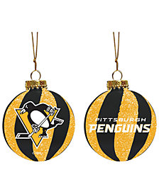 "Memory Company Pittsburgh Penguins 3"" Sparkle Glass Ball"