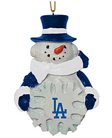 Memory Company Los Angeles Dodgers Snowflake Snowman Ornament