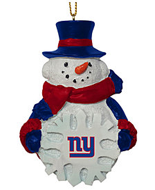 Memory Company New York Giants Snowflake Snowman Ornament