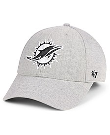 Miami Dolphins Heathered Black White MVP Adjustable Cap