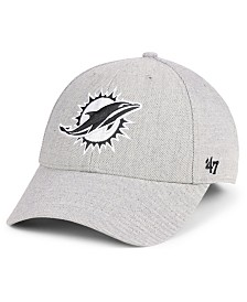 '47 Brand Miami Dolphins Heathered Black White MVP Adjustable Cap
