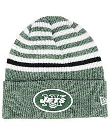 New Era New York Jets Striped2 Cuff Knit Hat