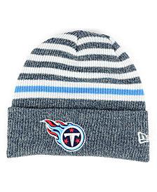 New Era Tennessee Titans Striped2 Cuff Knit Hat