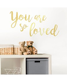 You Are So Loved Wall Quote