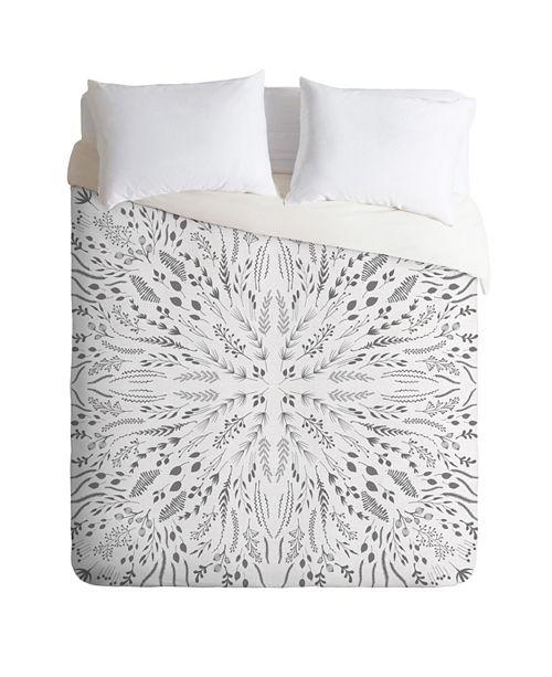 Deny Designs Iveta Abolina Gray Maze Twin Duvet Set