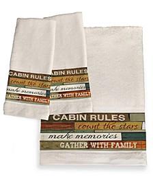Cabin Rules Bath Towel