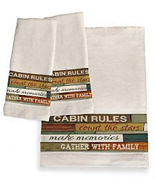 Cabin Rules Bath Towel