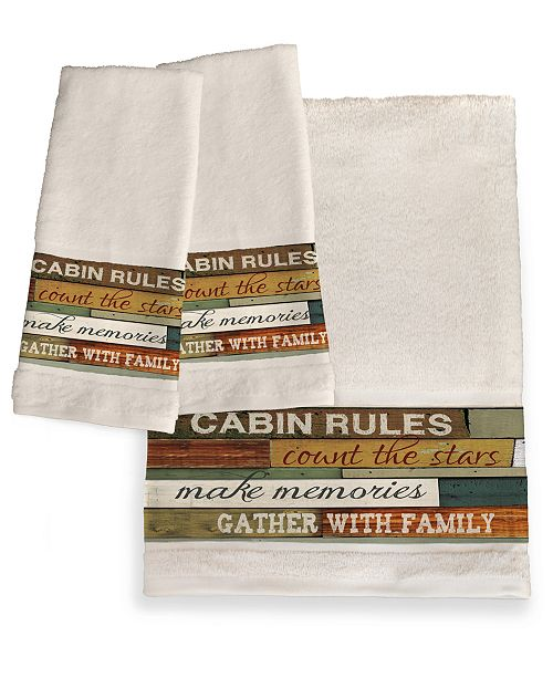 Laural Home Cabin Rules Bath Towel