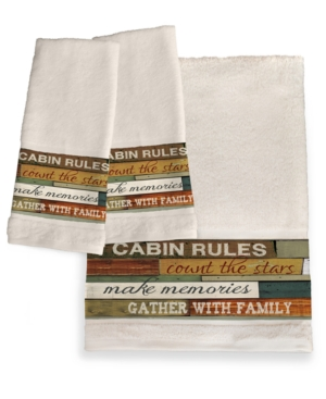 Image of Cabin Rules Bath Towel Bedding