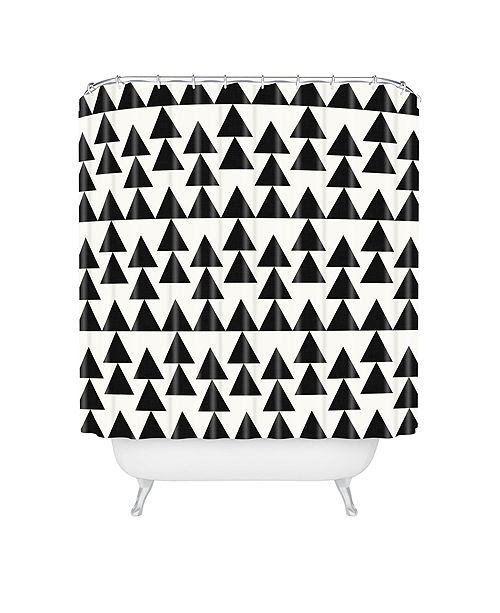 Deny Designs Holli Zollinger Triangles Black Shower Curtain