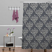 Holli Zollinger Grey Coral Shower Curtain