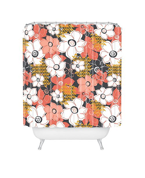 Deny Designs Heather Dutton Petals And Pods Lava Shower Curtain