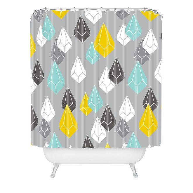 Deny Designs Heather Dutton Raining Gems Whisper Shower Curtain