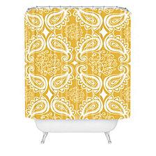 Deny Designs Heather Dutton Plush Paisley Goldenrod Shower Curtain