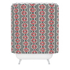 Deny Designs Holli Zollinger Raining Coral Linen Shower Curtain