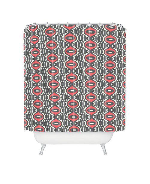 Deny Designs Holli Zollinger Raining Coral Linen Shower Curtain