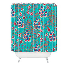 Deny Designs Holli Zollinger Liberty Turquoise Shower Curtain
