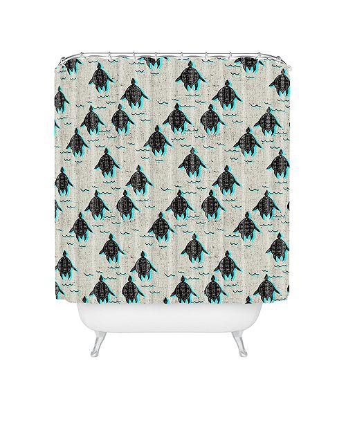 Deny Designs Holli Zollinger Folka Turtle Shower Curtain