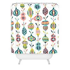 Heather Dutton Decorated White Shower Curtain