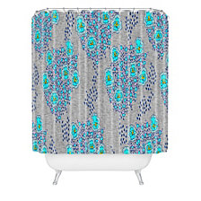 Deny Designs Holli Zollinger Boho Turquoise Floral Shower Curtain