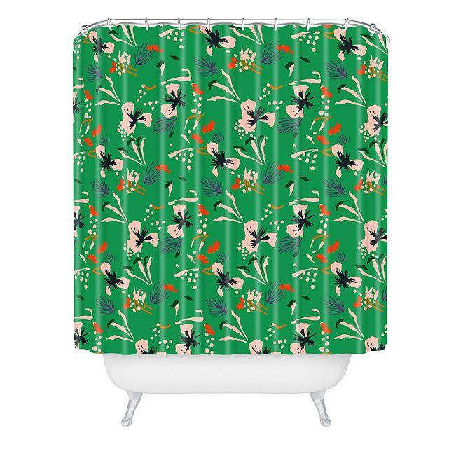 Deny Designs Holli Zollinger Anthology Of Pattern Seville Garden Green Shower Curtain