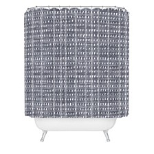 Holli Zollinger Bogo Denim Rain Light Shower Curtain