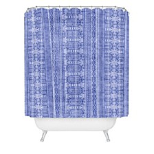 Holli Zollinger Dotted Boheme Denim Shower Curtain