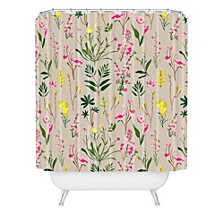 Holli Zollinger Wildflower Study Neutral Shower Curtain