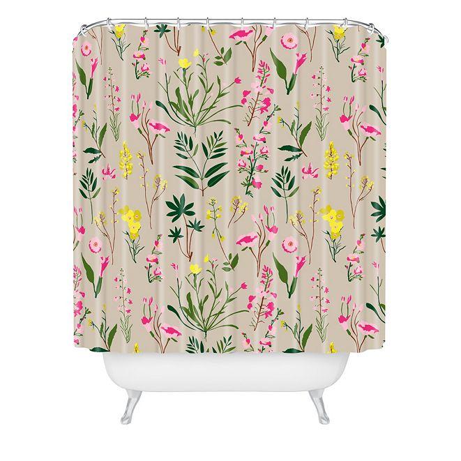 Deny Designs Holli Zollinger Wildflower Study Neutral Shower Curtain