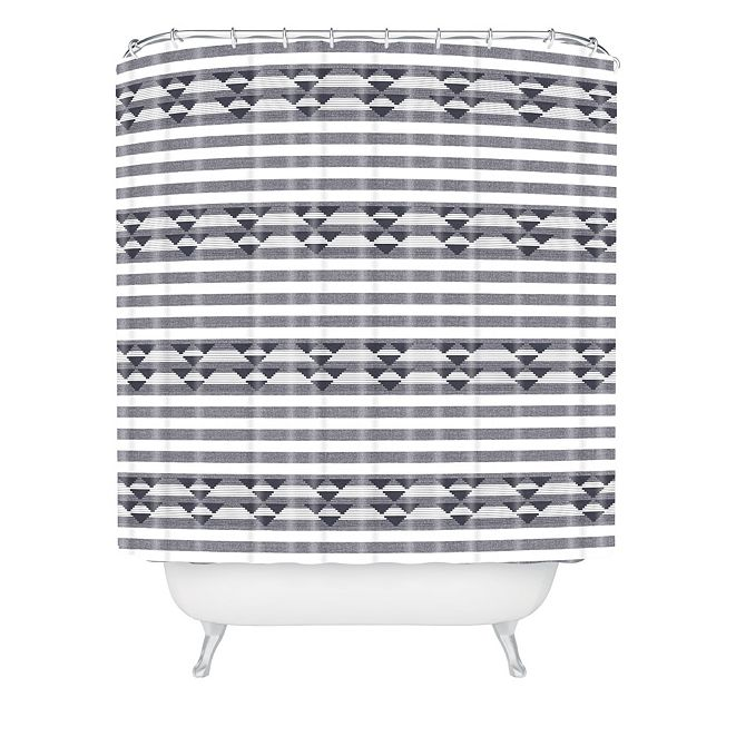 Deny Designs Holli Zollinger Linen Stripe Shower Curtain