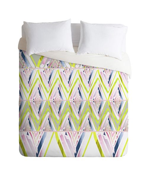 Deny Designs Iveta Abolina Chevron Glitch Twin Duvet Set