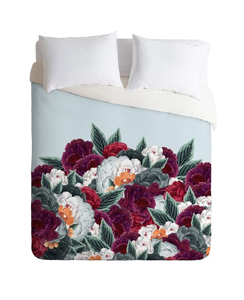 Deny Designs Iveta Abolina English Rose Queen Duvet Set
