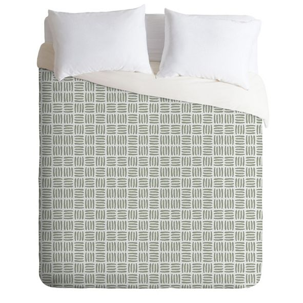 Deny Designs Iveta Abolina Pine Needle Checker II Twin Duvet Set