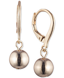 Lauren Ralph Lauren Gold-Tone Metal Ball Drop Earrings