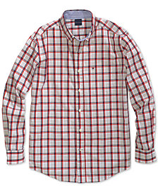 Tommy Hilfiger Adaptive Men's Baron Plaid Shirt with Magnetic Buttons
