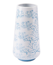 Branch Sm Vase Blue & White
