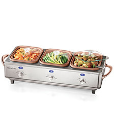Nostalgia Dcbs15 Deluxe Stainless Steel Cook & Serve Buffet Server