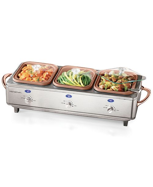 Nostalgia Deluxe Stainless Steel Cook & Serve Buffet Server