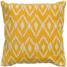 "Rizzy Home 18"" x 18"" Ikat Poly Filled Pillow"