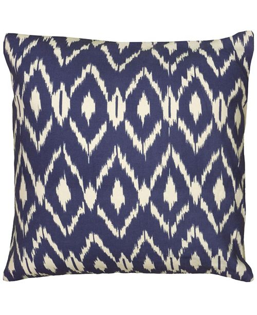 """Rizzy Home 18"""" x 18"""" Ikat Poly Filled Pillow"""